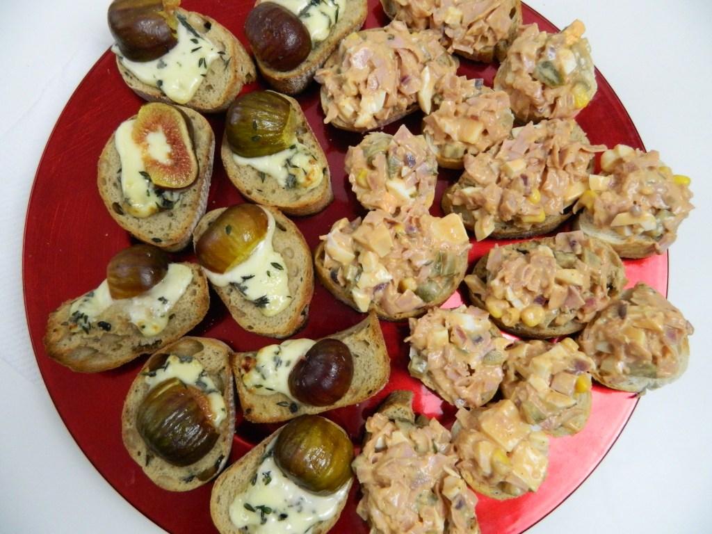 Posh Gorgonzola Bruschetti with Figs