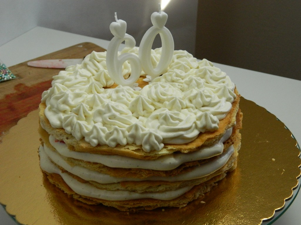Homemade Mille-feuille Strawberry Cake