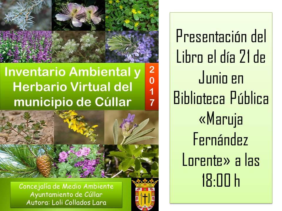 """Presentación del libro """"Inventario ambiental y herbario virtual del municipio de Cúllar"""""""