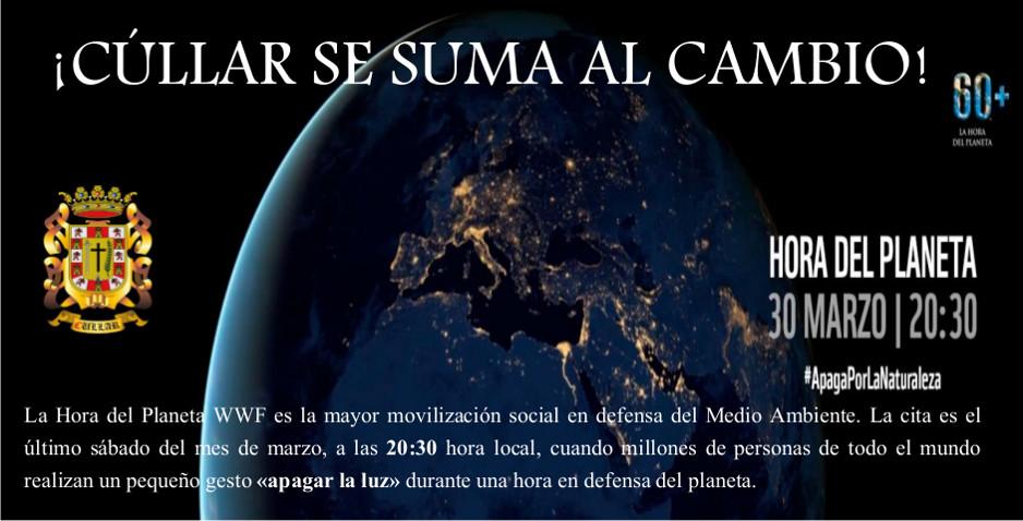30 de Marzo a las 20:30. Hora del Planeta en Cúllar.