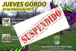 Suspendido Jueves Gordo