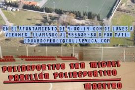 RESERVA DE INSTALACIONES DEPORTIVAS MUNICIPALES. TEMPORADA 2017-2018