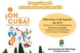 """Espectáculo en El Generalife """"¡Oh Cuba!"""""""