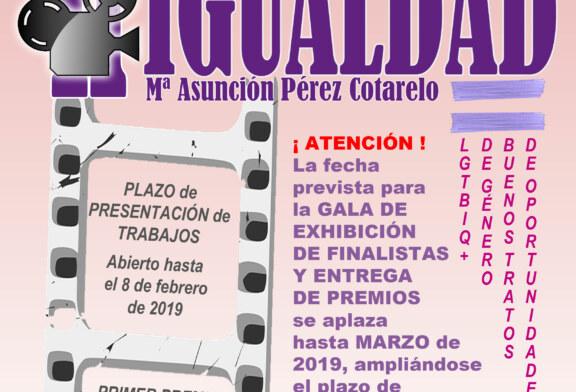 """Aplazado Concurso de Cortos por la Igualdad """"Mª Asunción Pérez Cotarelo"""""""