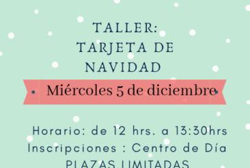 Taller de Tarjetas de Navidad en el Centro de Día