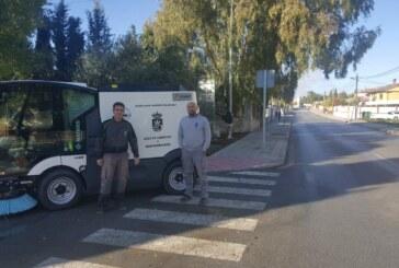 Cúllar Vega mejora su servicio de limpieza viaria con la adquisición de una nueva barredora