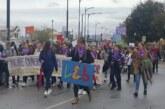 Más de cien alumnos del IES Arabuleila de Cúllar Vega participan en una 'marcha morada' contra la violencia de género