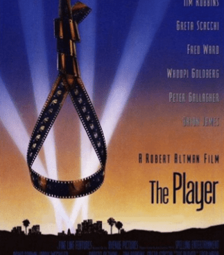 The delightfully macabre movie poster for The Player