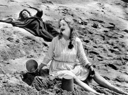 Macabre beach scene