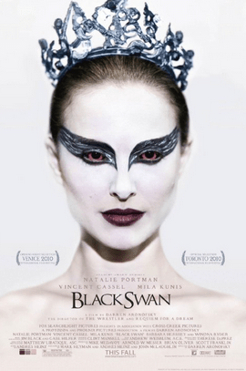 Promotional poster for Black Swan, the best movie ever.