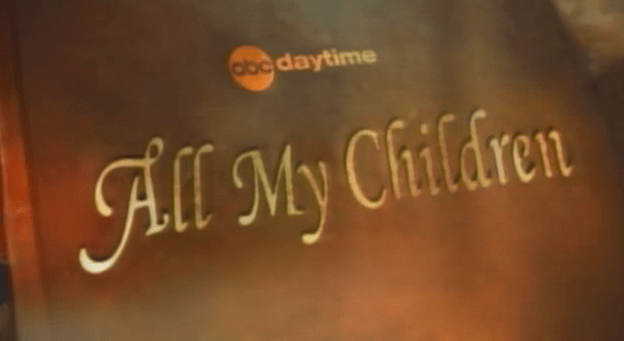 The schmaltzy intro title to All My Children