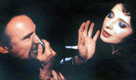 Rossellini with Dennis Hopper in Blue Velvet