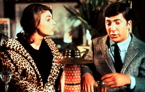 Mrs. Robinson wilds out on Benjamin in her leopard print jacket