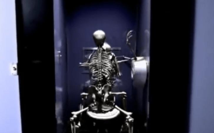 """Two skeletons """"boning"""""""