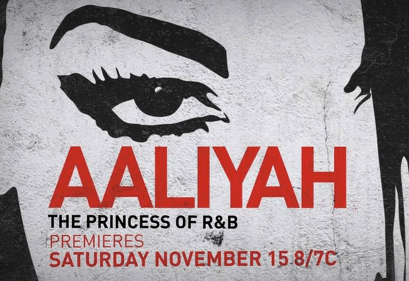 Promotional poster for Aaliyah biopic