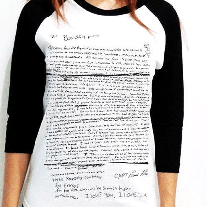 062a728a The Kurt Cobain Suicide Note on a T-Shirt Was Surprisingly Not From Urban  Outfitters