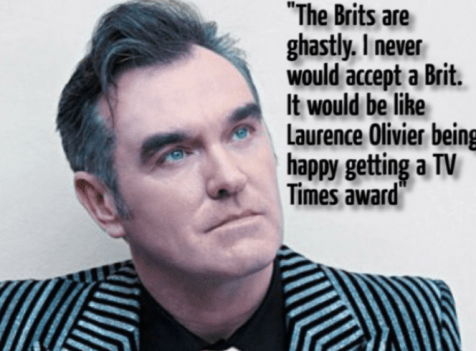 Morrissey on the Brit Awards