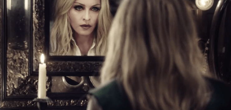 Two souls in a ghost town: Madonna and her reflection