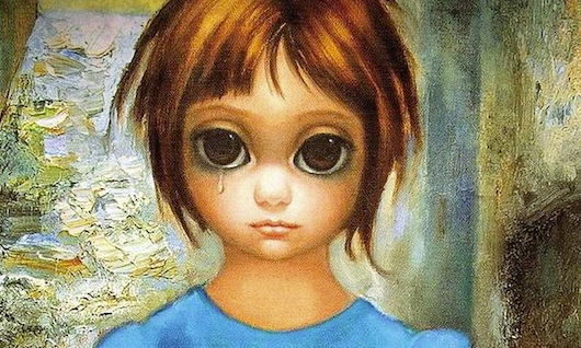 "One of Keane's most famous ""big eyes"""