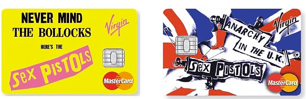 The Sex Pistols' Former Reputation Further Decimated By Appearing On Credit Card Furnished by Virgin Money