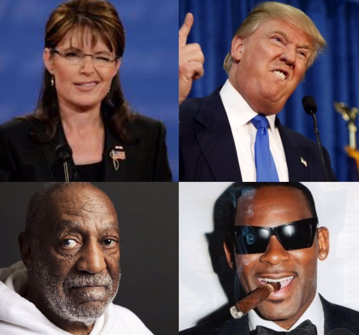 What's the Worst Alliance in American Pop Culture Right Now: Trump-Palin or Kelly-Cosby?