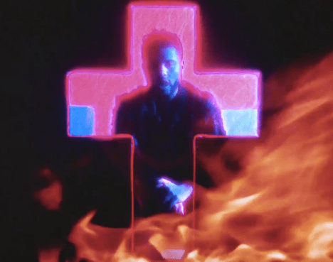 "Neon Wet Dreams in Cross-Shaped Forms Pervade The Weeknd's ""Party Monster"""