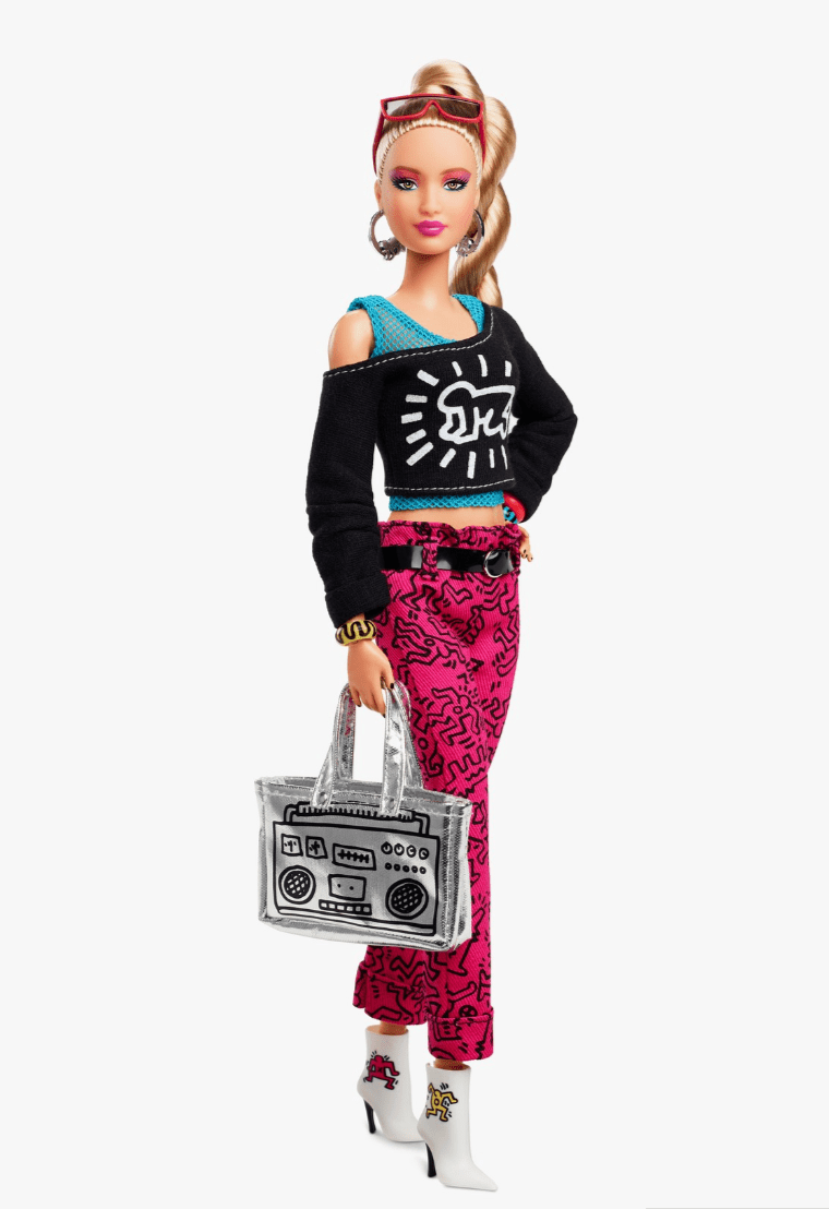 Barbie Is No Longer Trendsetter So Much As Poseur As She Slips Into Keith Haring Attire