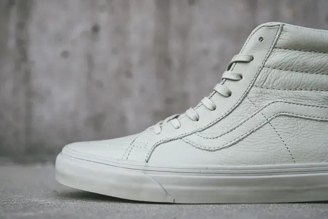 b96582577293 Vans Sk8-Hi Zip CA Boot Leather Agate Gray