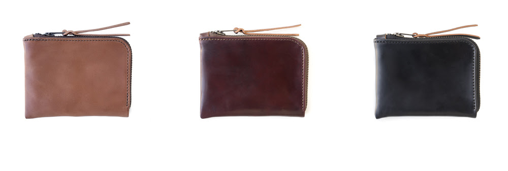 MAKR Horween Shell Cordovan Zip Slim Wallets