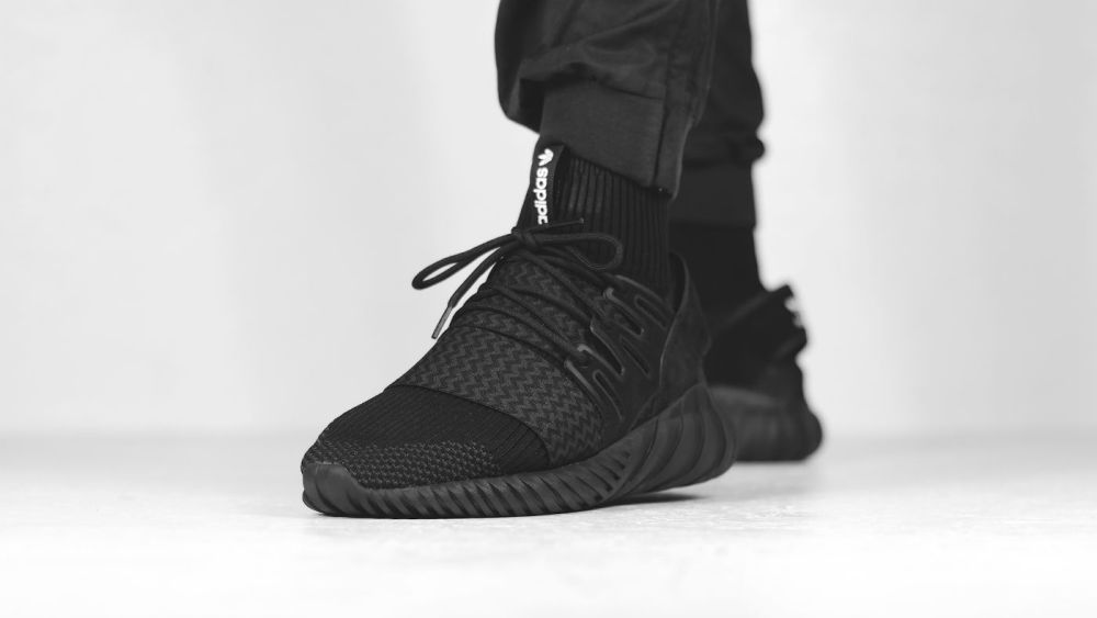 c4010af657081 adidas Originals Tubular Doom Primeknit Black (Available Now)