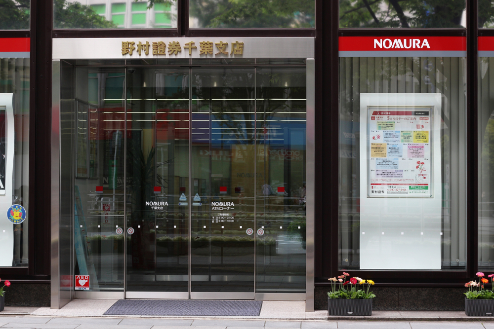 A Nomura bank in Chiba, Japan.