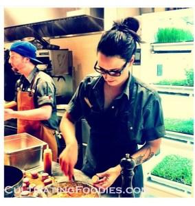 Stephanie working at Market