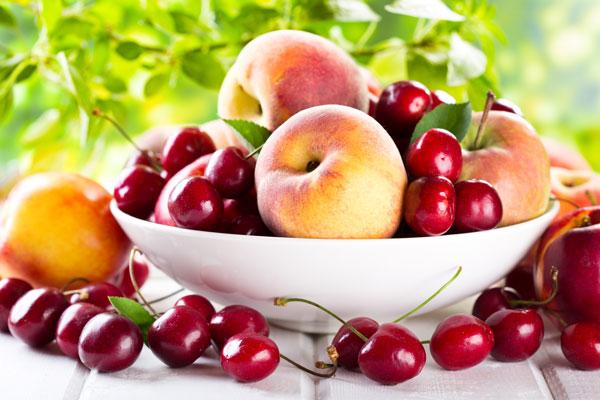 corbeille de fruits du printemps