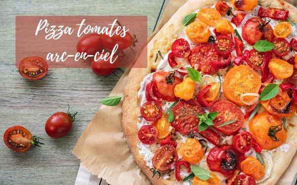 Recette de pizza tomates arc-en-ciel