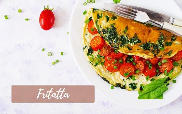Recette de frittata aux bacons, épinards et tomates