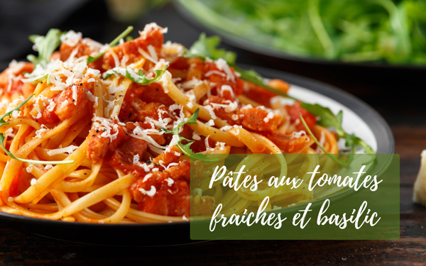 Recette pâtes tomates basilic