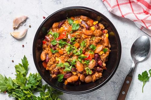 préparation du chili con carne