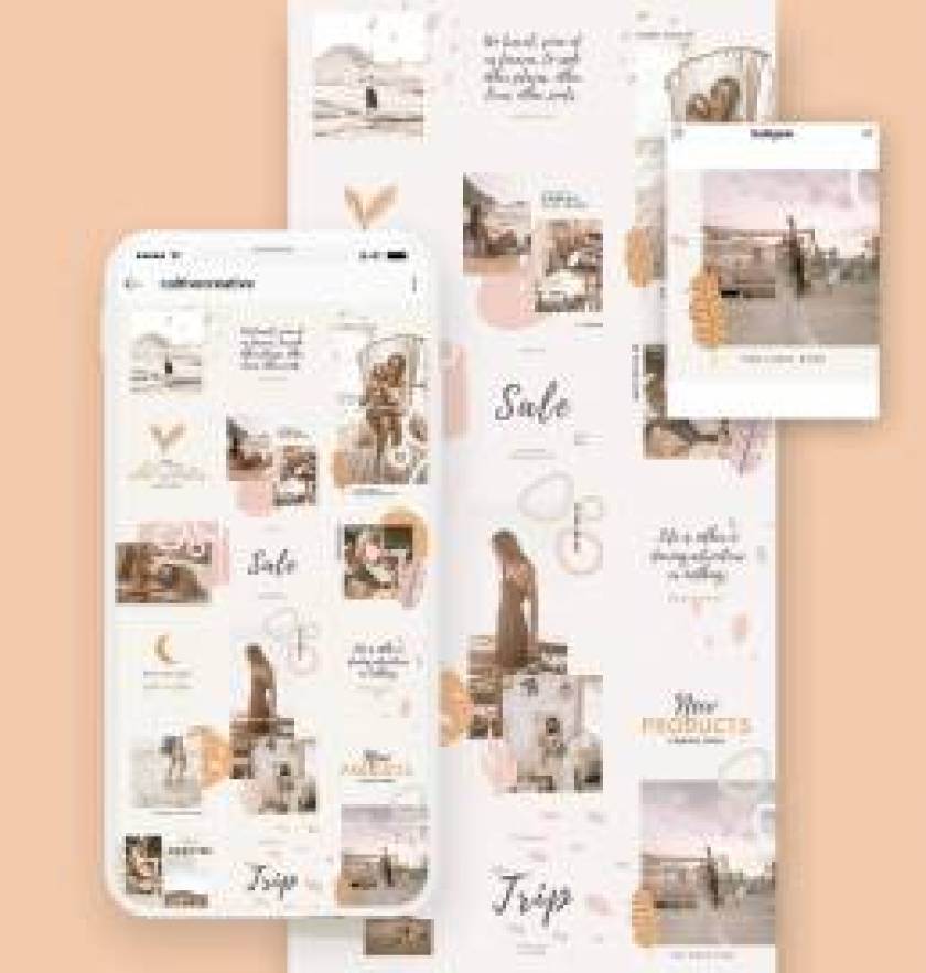Boho Instagram Collage Template
