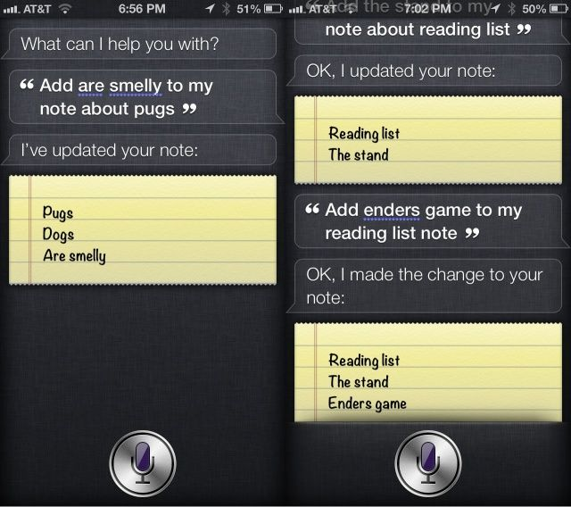 Siri Notes