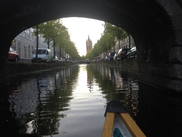 Cruising the canals in Delft