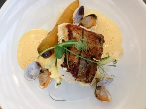 Main course: sole with hollandaise sauce