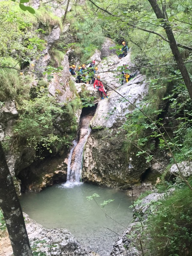 Canyoning in the Susec canyon