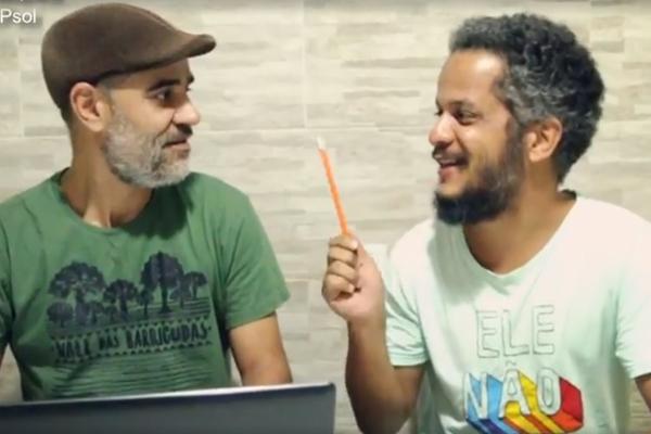 A dupla Kel Dourado e Sócrates Junior Foto: Reprodução Facebook
