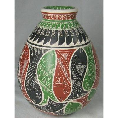 Mata Ortiz Pottery, Chihuahua Martin Olivas Quintana Fish