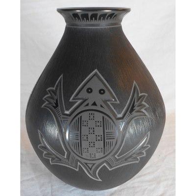 Mata Ortiz Pottery, Chihuahua Tavo Silveira Geometric