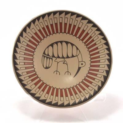 Blanca Quezada Blanca Quezada: Small Mimbres Style Plate with Bird Birds