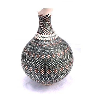 Lazaro Ponce Lazaro Ponce: Large Geometric Vase Geometric