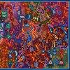 Wixárika (Huichol) Art Emiliano de la Cruz Benítez: Premier Very Large Multi-color Huichol Yarn Painting Huichol
