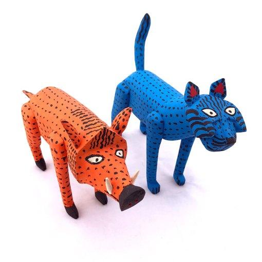 Quirino Santiago Cruz Quirino Santiago Cruz: Collector Jaguar and Javelina Set Cats