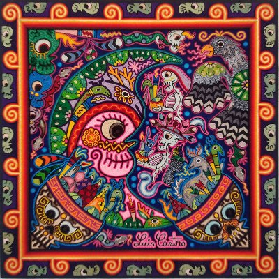 Wixárika (Huichol) Art Luis Castro: Premier Huichol Yarn Painting – Direct from Mexico Huichol
